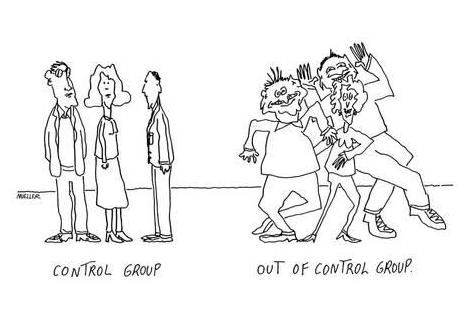 A control group cartoon.