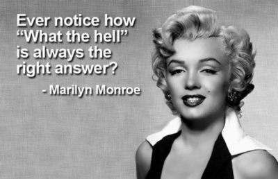 supposed marylin monroe quote