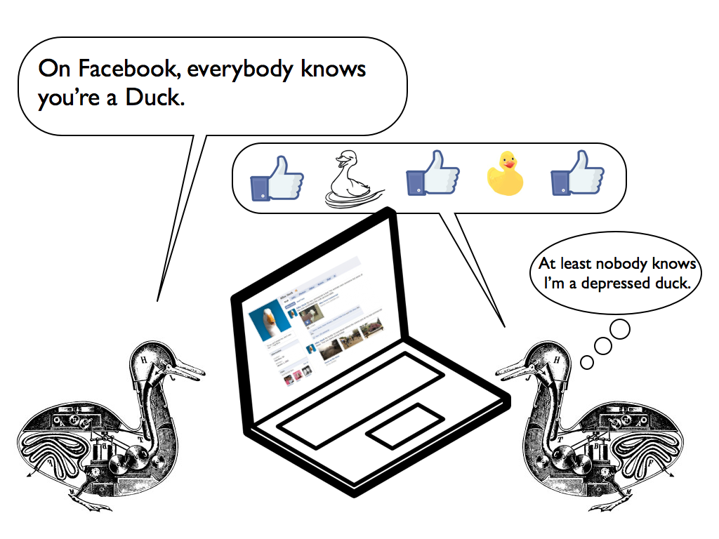 On Facebook, everybody knows you're a duck.