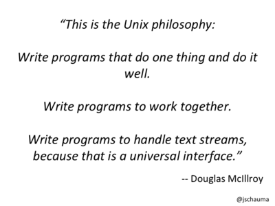 The UNIX Philosophy.