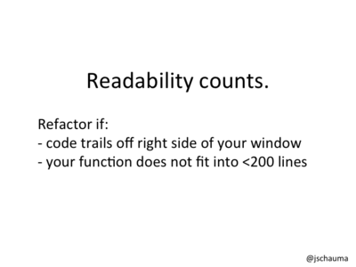 Rules of thumb for refactoring.