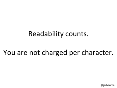 You are not charged per character.
