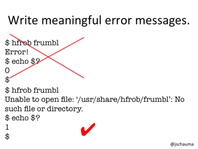 Write Meaningful Error Messages