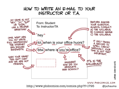 How to write an email.