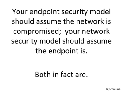 Both your network and your endpoints are compromised.
