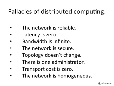 Understand the fallacies of distributed computing.